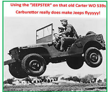 JEEPSTER SOLUTIONS CARTOON FLYING JEEP